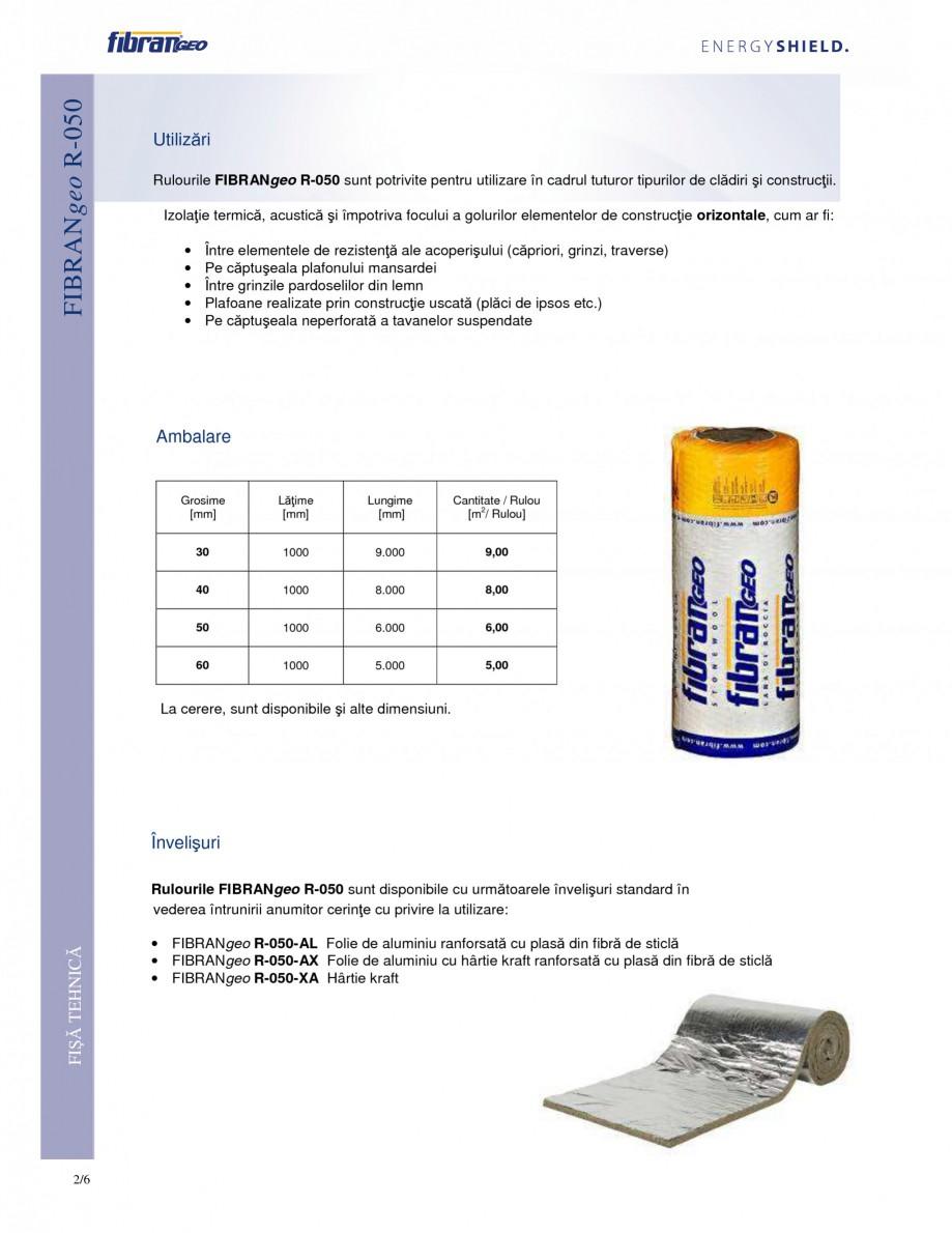 Pagina 2 - Rulouri izolante FIBRANgeo R-050 Fisa tehnica Romana  devin aderente, elastice,...