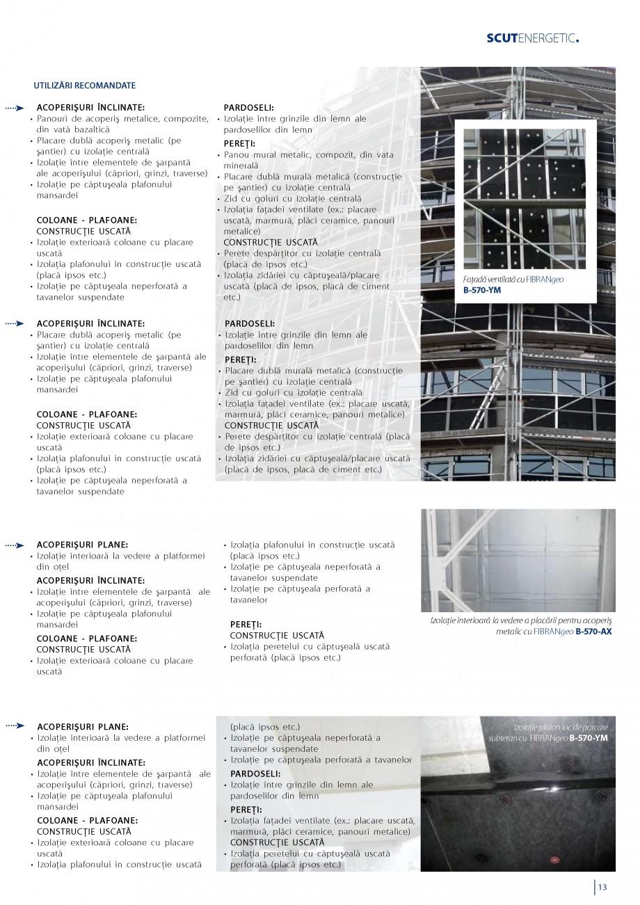Pagina 14 - Vata minerala bazaltica pentru izolatia termica, fonica si protectia impotriva focului...