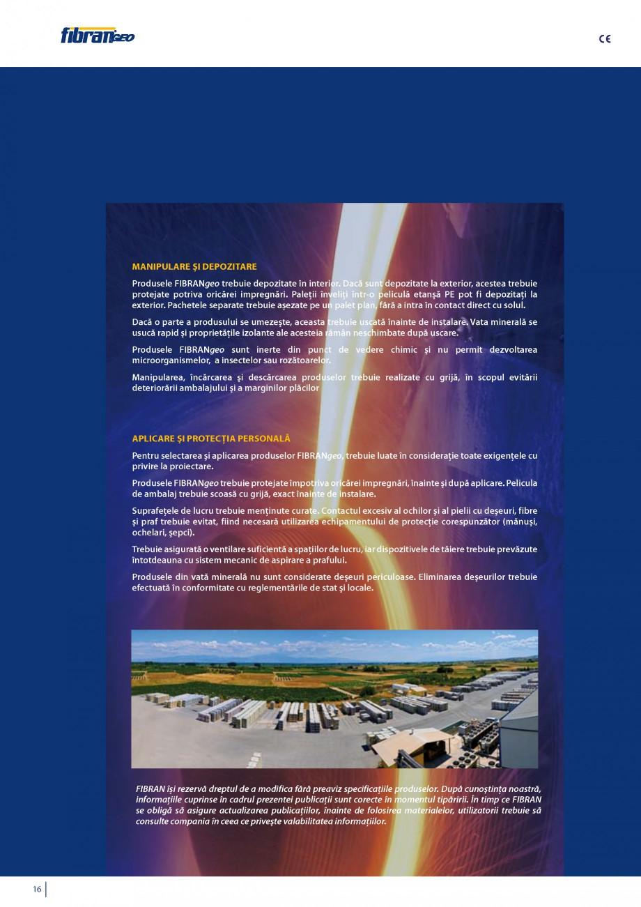 Pagina 17 - Vata minerala bazaltica pentru izolatia termica, fonica si protectia impotriva focului...