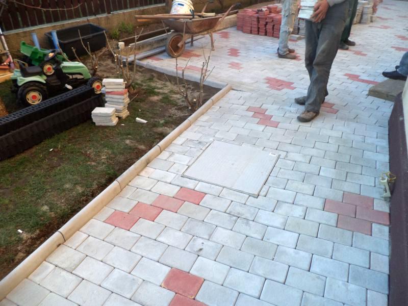 Pavele din beton - Combinatie de rosu deschis cu gri deschis CONSTRUCTII MILLENIUM - Poza 4