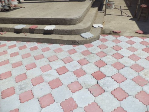 Pavele din beton - Combinatie de rosu deschis cu gri deschis CONSTRUCTII MILLENIUM - Poza 1