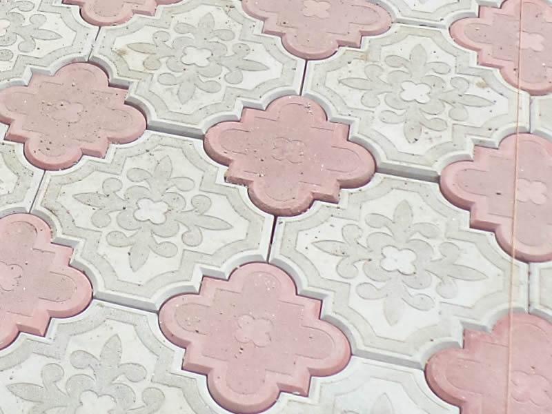 Pavele din beton - Combinatie de rosu deschis cu gri deschis CONSTRUCTII MILLENIUM - Poza 5