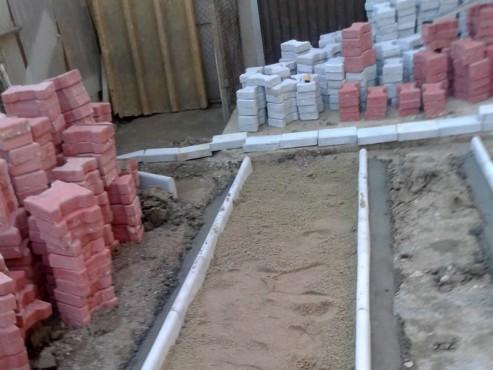 Exemple de utilizare Pavele din beton - Combinatie de rosu deschis cu gri deschis CONSTRUCTII MILLENIUM - Poza 5