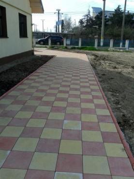 Dale din beton - Combinatie de rosu deschis cu alb CONSTRUCTII MILLENIUM - Poza 3