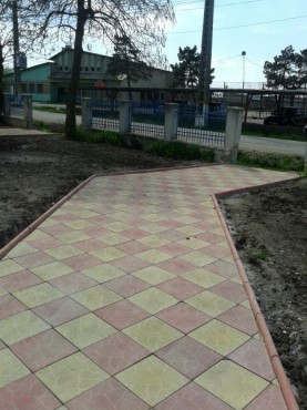Dale din beton - Combinatie de rosu deschis cu alb CONSTRUCTII MILLENIUM - Poza 4