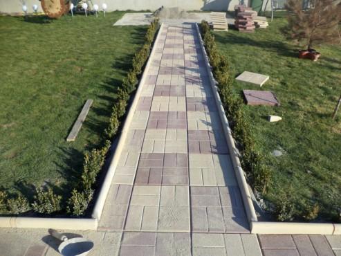 Dale din beton - Combinatie de maro cu crem CONSTRUCTII MILLENIUM - Poza 3