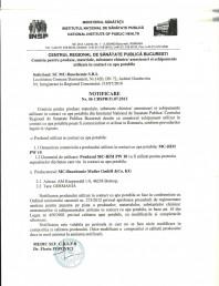 Certificat regional de sanatate publica - MC-RIM PW 10