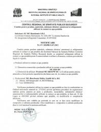 Certificat regional de sanatate publica - MC-RIM PW BC