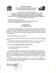 Certificat regional de sanatate publica - MC-RIM PW CP