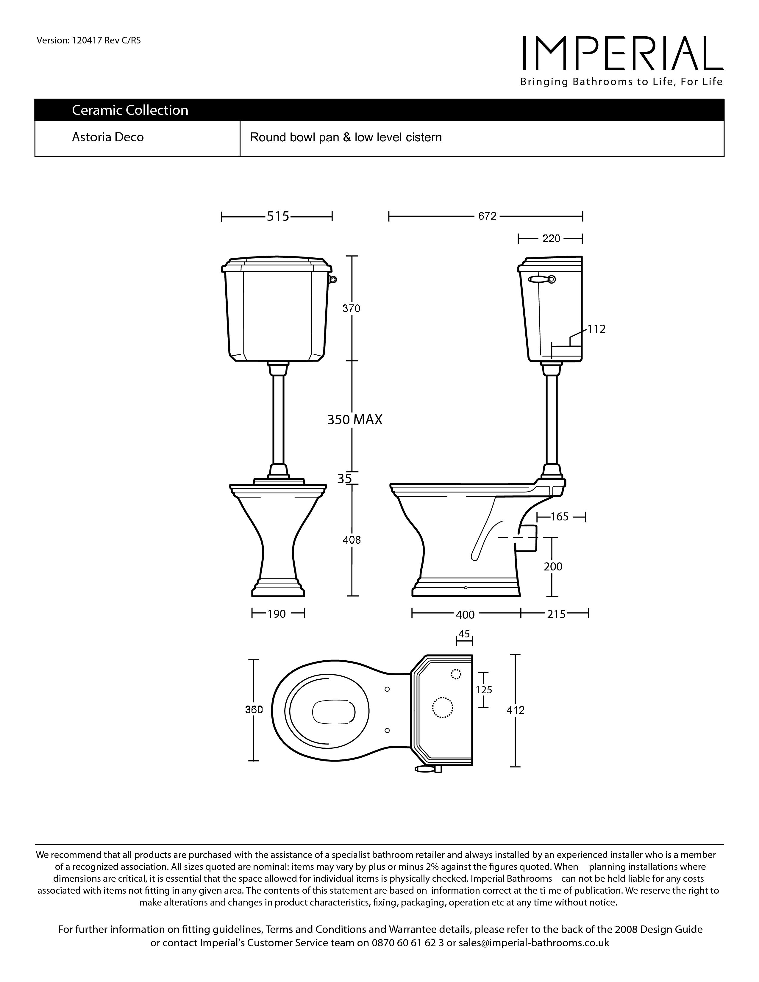 Vas wc cu rezervor la semi inaltime astoria deco vas wc rezervor la semi inaltime imperial - Object deco wc ...