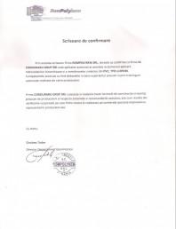 Scrisoare de confirmare Rompolykem SRL