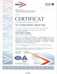 Cerfificat ISO 9001:2008
