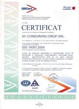 Cerfificat ISO 14001:2004