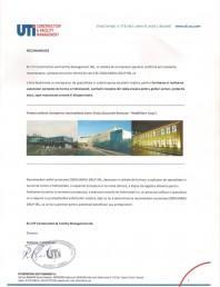 Recomandare UTI Construction