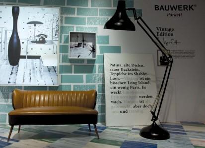 Parchet dublustratificat - Vintage Edition - BAUWERK Messestand an der IMM in Köln (D) 1 Vintage