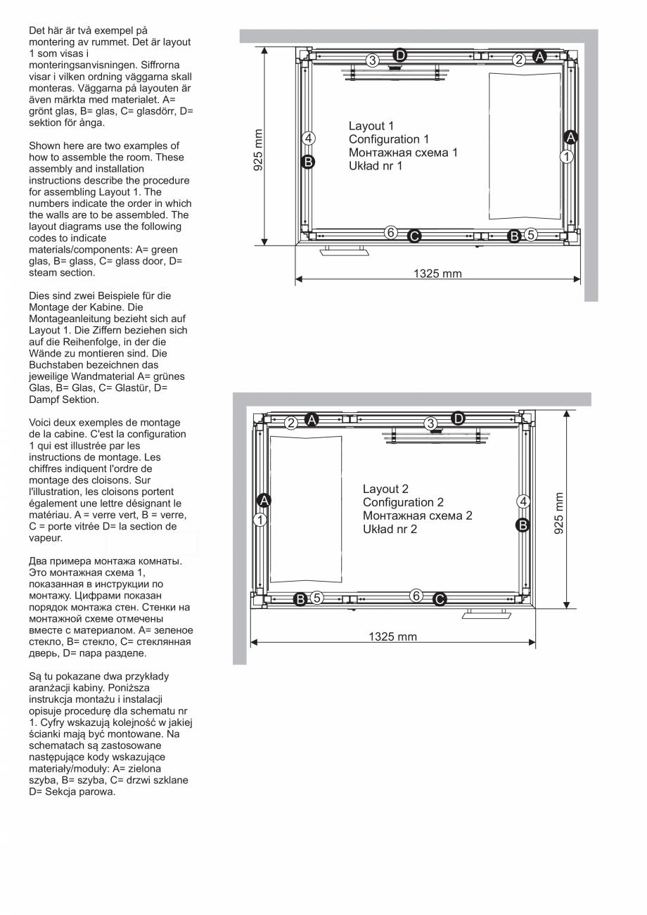 Pagina 8 - Ghidul utilizatorului pentru baia cu aburi UE Panacea Instructiuni montaj, utilizare...