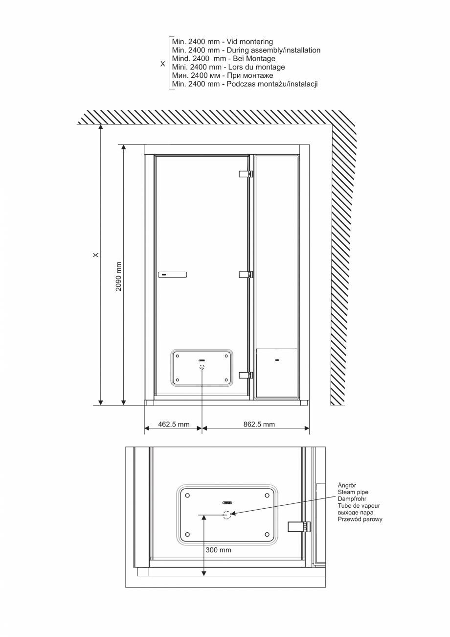 Pagina 9 - Ghidul utilizatorului pentru baia cu aburi UE Panacea Instructiuni montaj, utilizare...