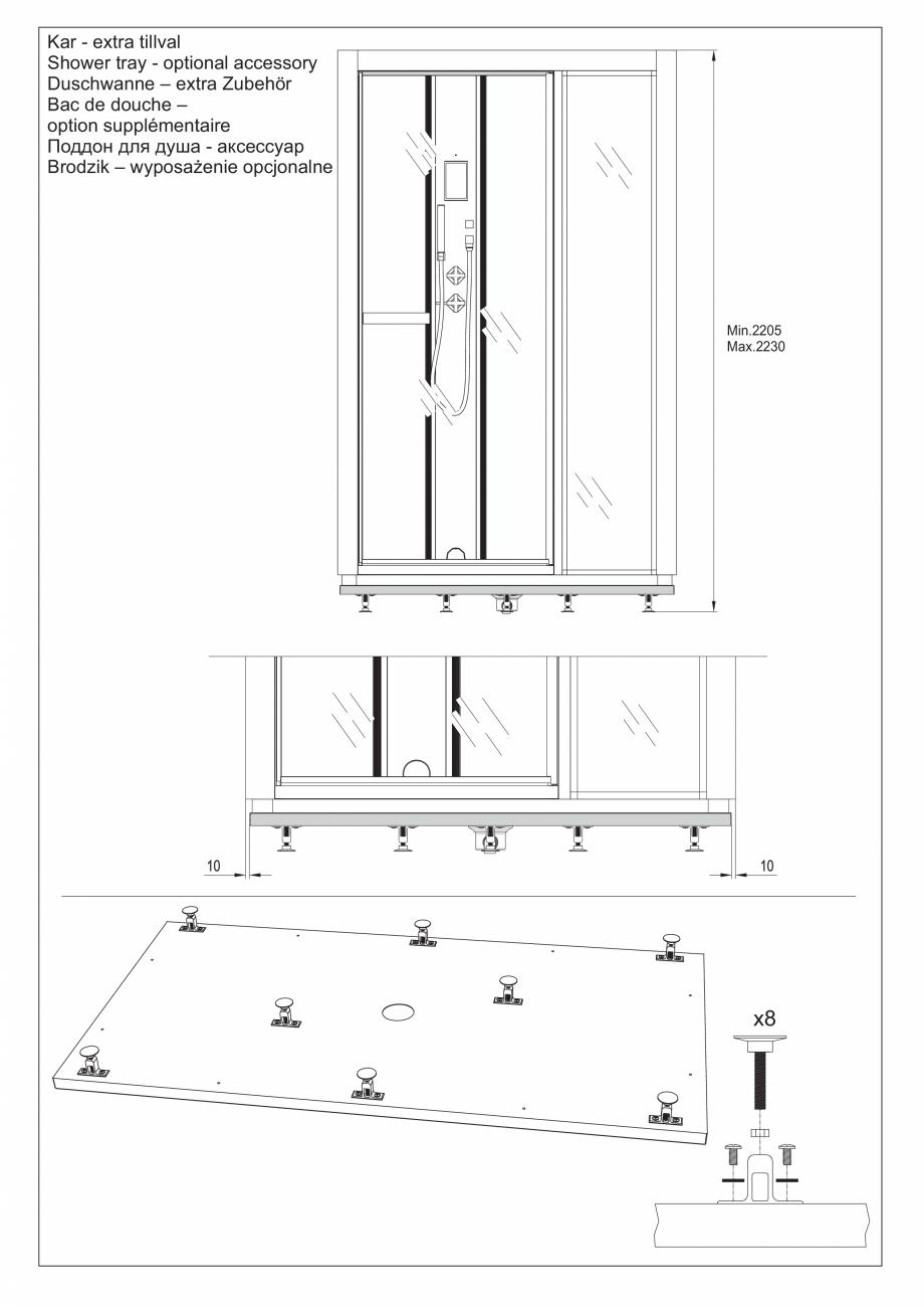 Pagina 16 - Ghidul utilizatorului pentru baia cu aburi UE Panacea Instructiuni montaj, utilizare...