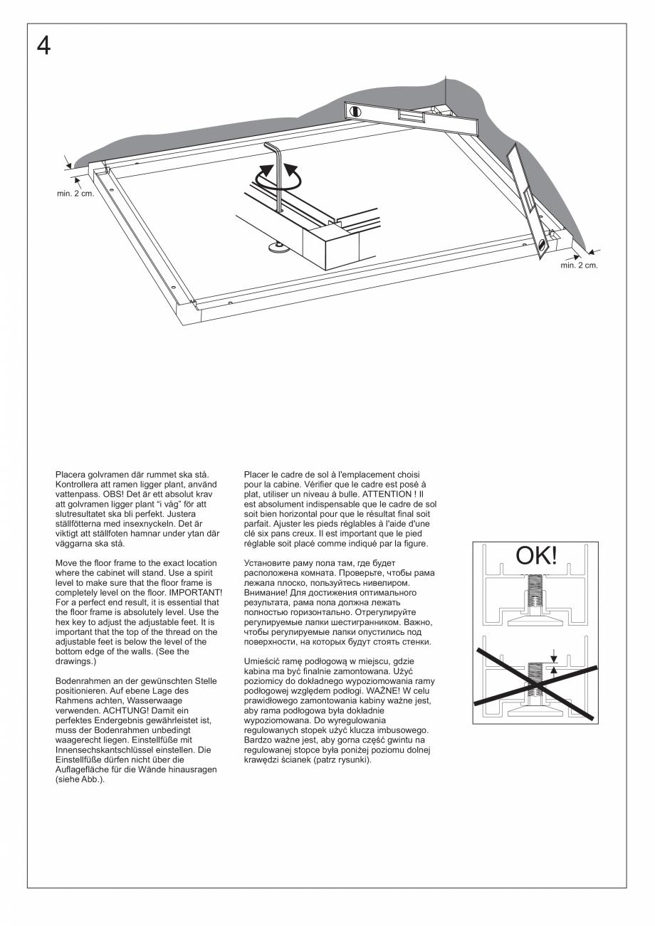 Pagina 20 - Ghidul utilizatorului pentru baia cu aburi UE Panacea Instructiuni montaj, utilizare...
