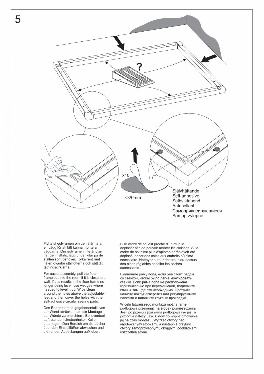 Pagina 21 - Ghidul utilizatorului pentru baia cu aburi UE Panacea Instructiuni montaj, utilizare...