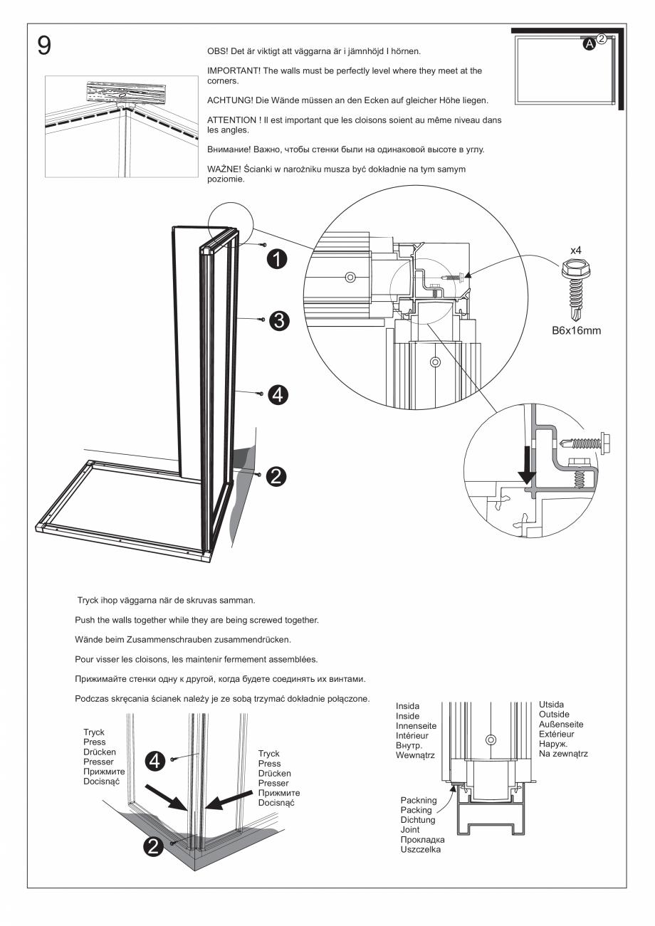 Pagina 24 - Ghidul utilizatorului pentru baia cu aburi UE Panacea Instructiuni montaj, utilizare...