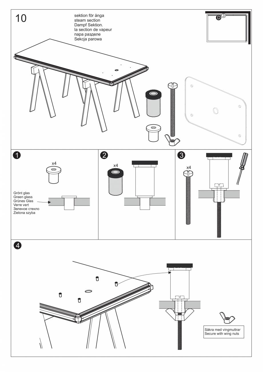 Pagina 25 - Ghidul utilizatorului pentru baia cu aburi UE Panacea Instructiuni montaj, utilizare...