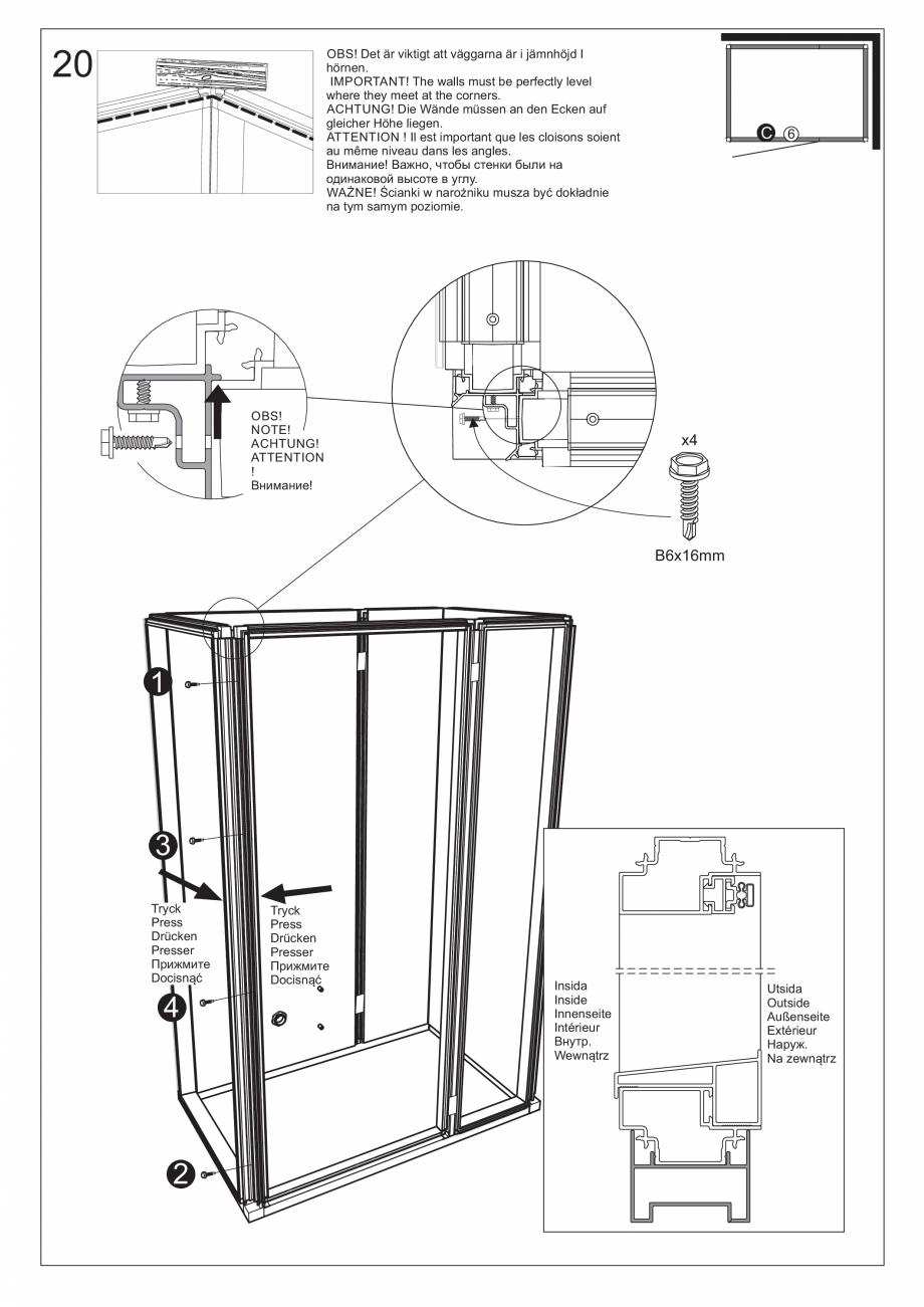 Pagina 34 - Ghidul utilizatorului pentru baia cu aburi UE Panacea Instructiuni montaj, utilizare...