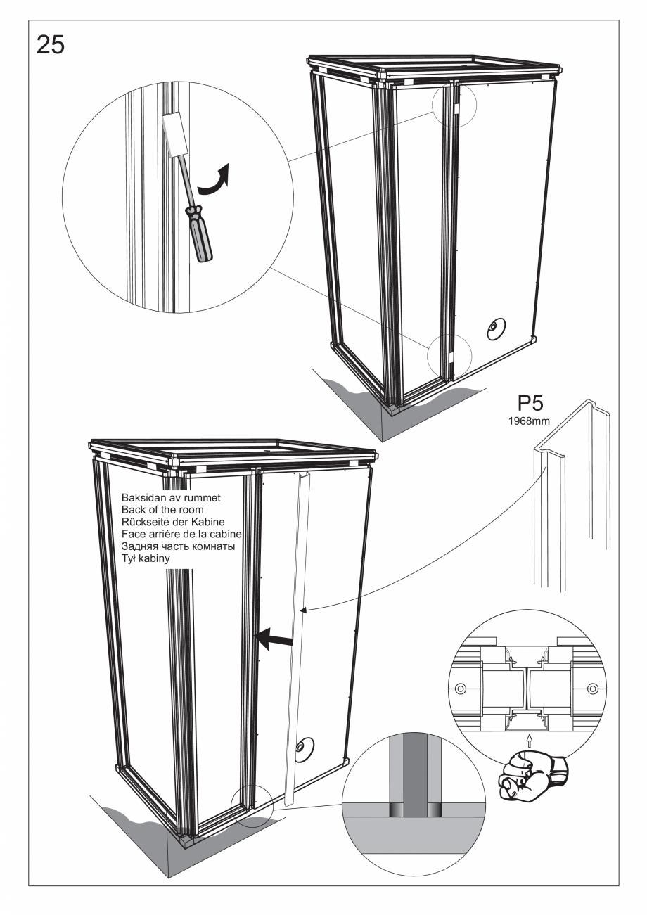 Pagina 39 - Ghidul utilizatorului pentru baia cu aburi UE Panacea Instructiuni montaj, utilizare...