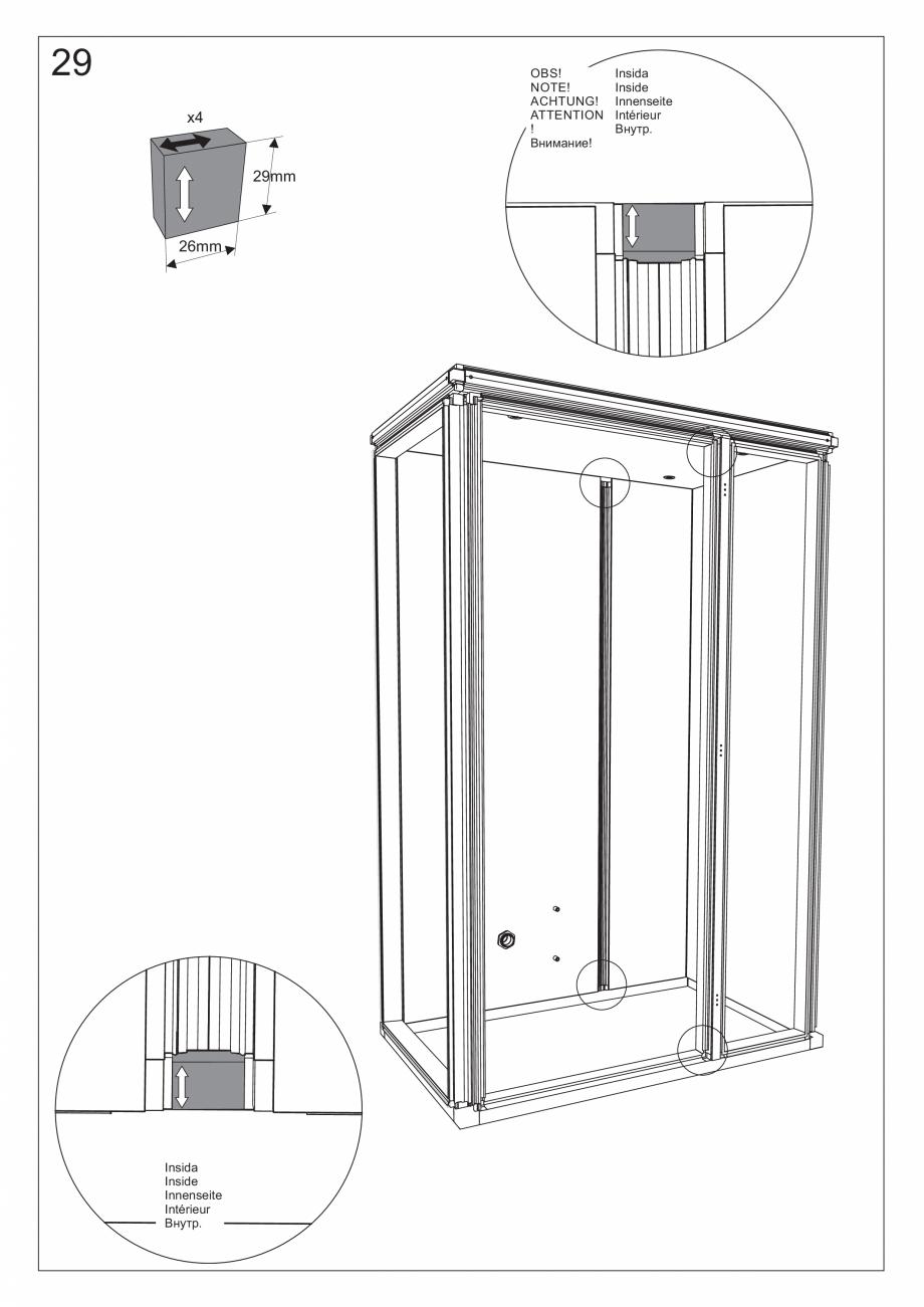 Pagina 42 - Ghidul utilizatorului pentru baia cu aburi UE Panacea Instructiuni montaj, utilizare...