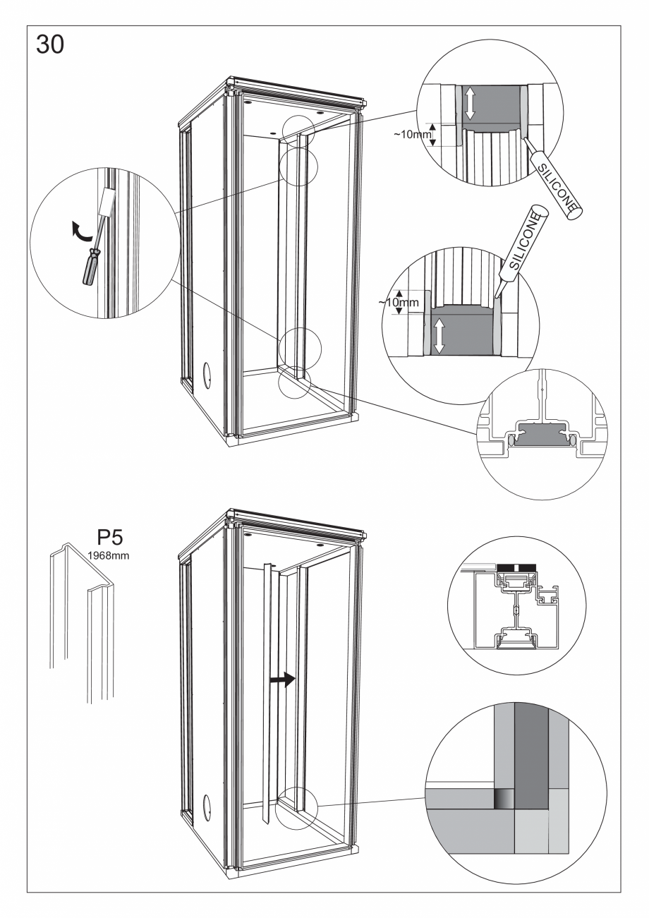 Pagina 43 - Ghidul utilizatorului pentru baia cu aburi UE Panacea Instructiuni montaj, utilizare...