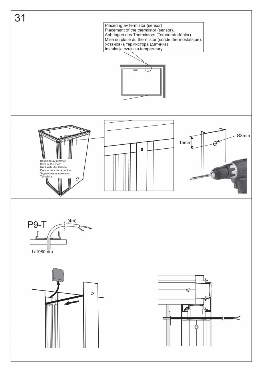 Pagina 44 - Ghidul utilizatorului pentru baia cu aburi UE Panacea Instructiuni montaj, utilizare...