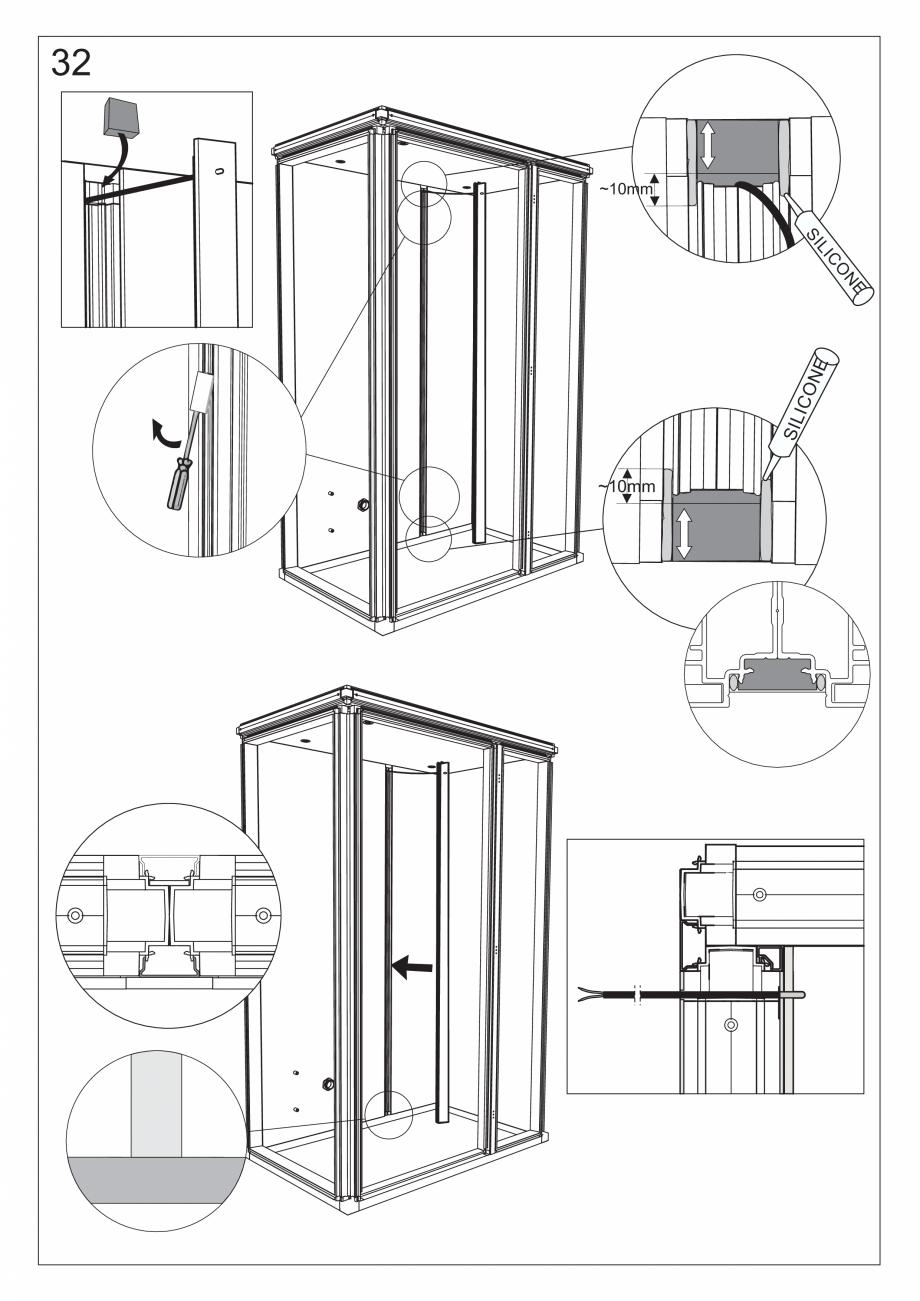 Pagina 45 - Ghidul utilizatorului pentru baia cu aburi UE Panacea Instructiuni montaj, utilizare...