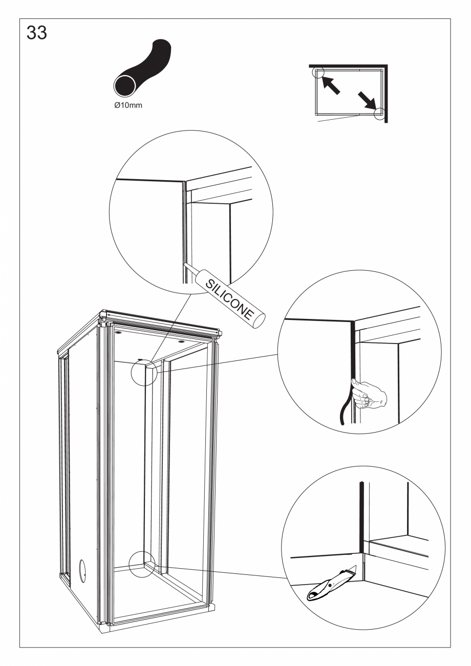 Pagina 46 - Ghidul utilizatorului pentru baia cu aburi UE Panacea Instructiuni montaj, utilizare...