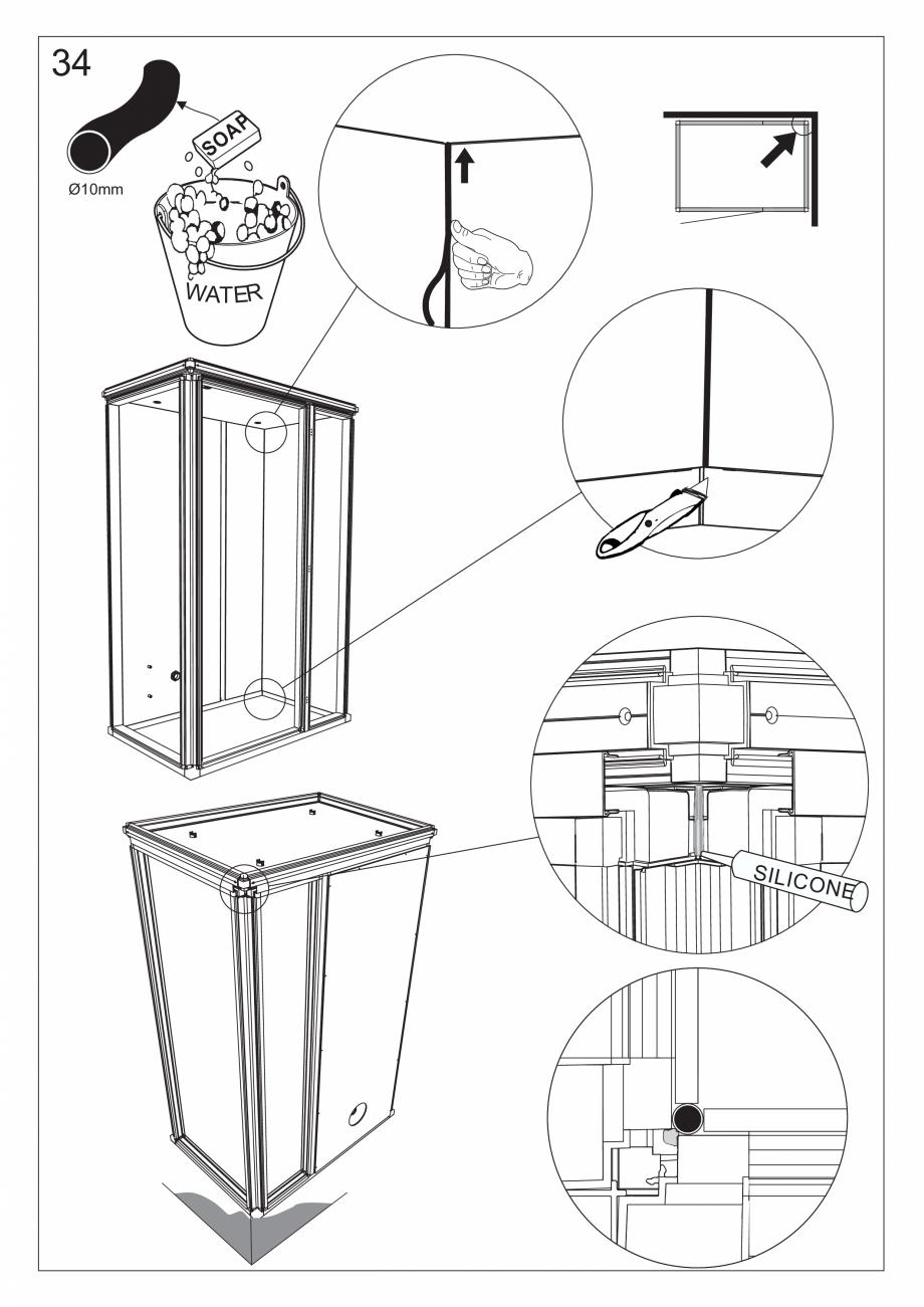 Pagina 47 - Ghidul utilizatorului pentru baia cu aburi UE Panacea Instructiuni montaj, utilizare...