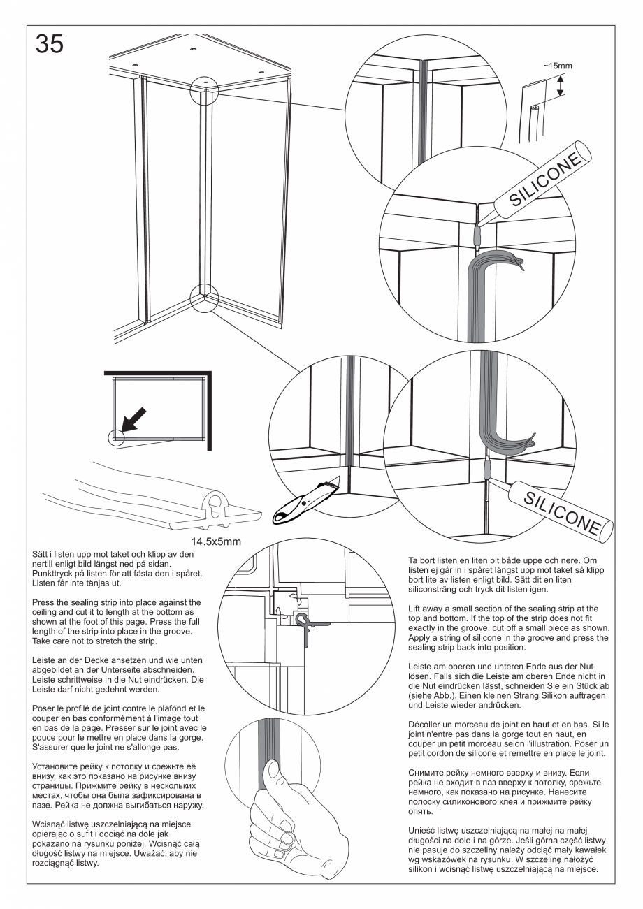 Pagina 48 - Ghidul utilizatorului pentru baia cu aburi UE Panacea Instructiuni montaj, utilizare...