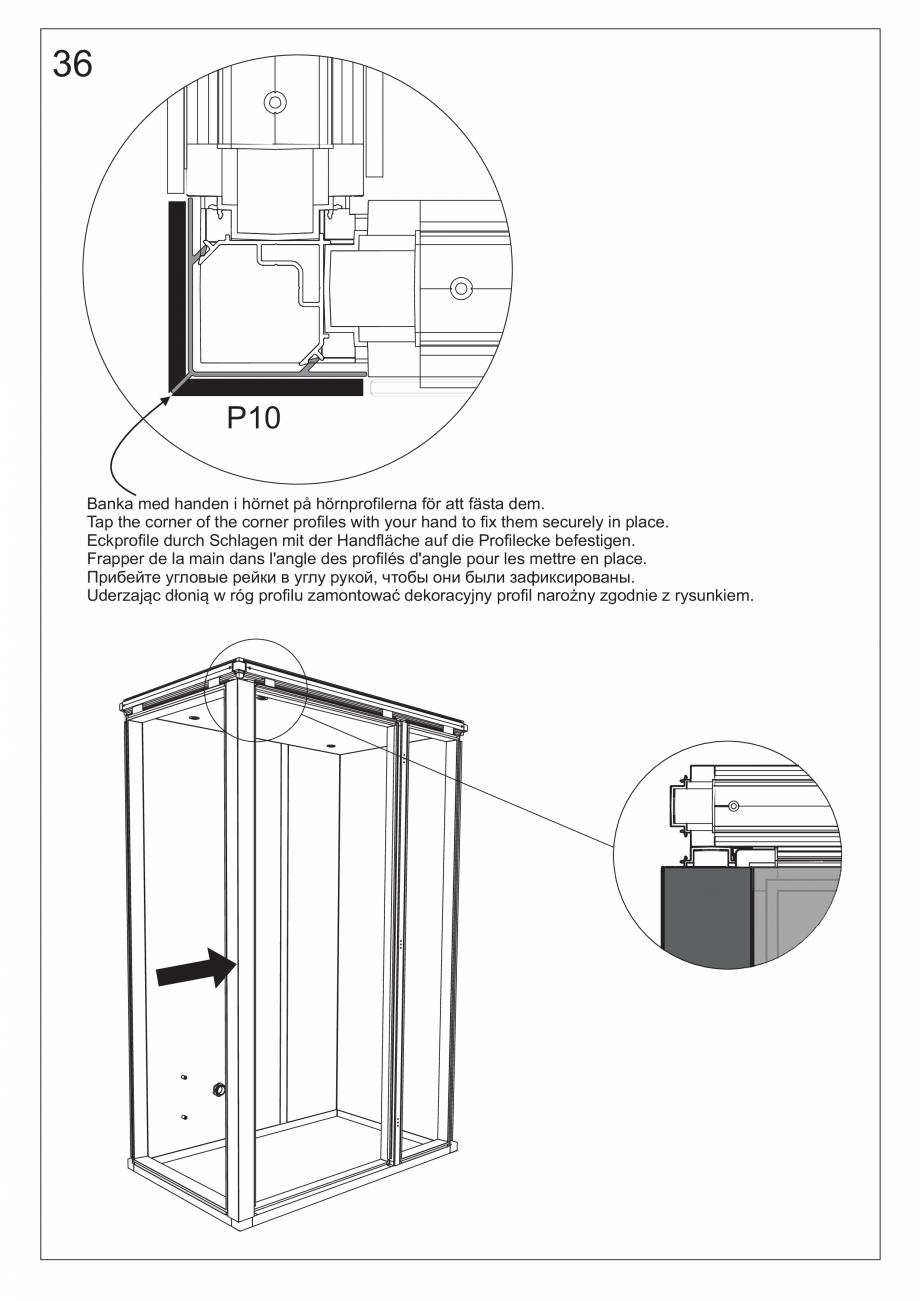 Pagina 49 - Ghidul utilizatorului pentru baia cu aburi UE Panacea Instructiuni montaj, utilizare...