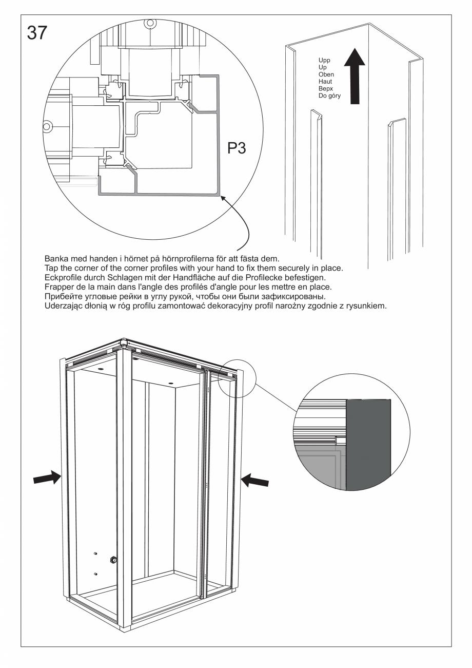 Pagina 50 - Ghidul utilizatorului pentru baia cu aburi UE Panacea Instructiuni montaj, utilizare...