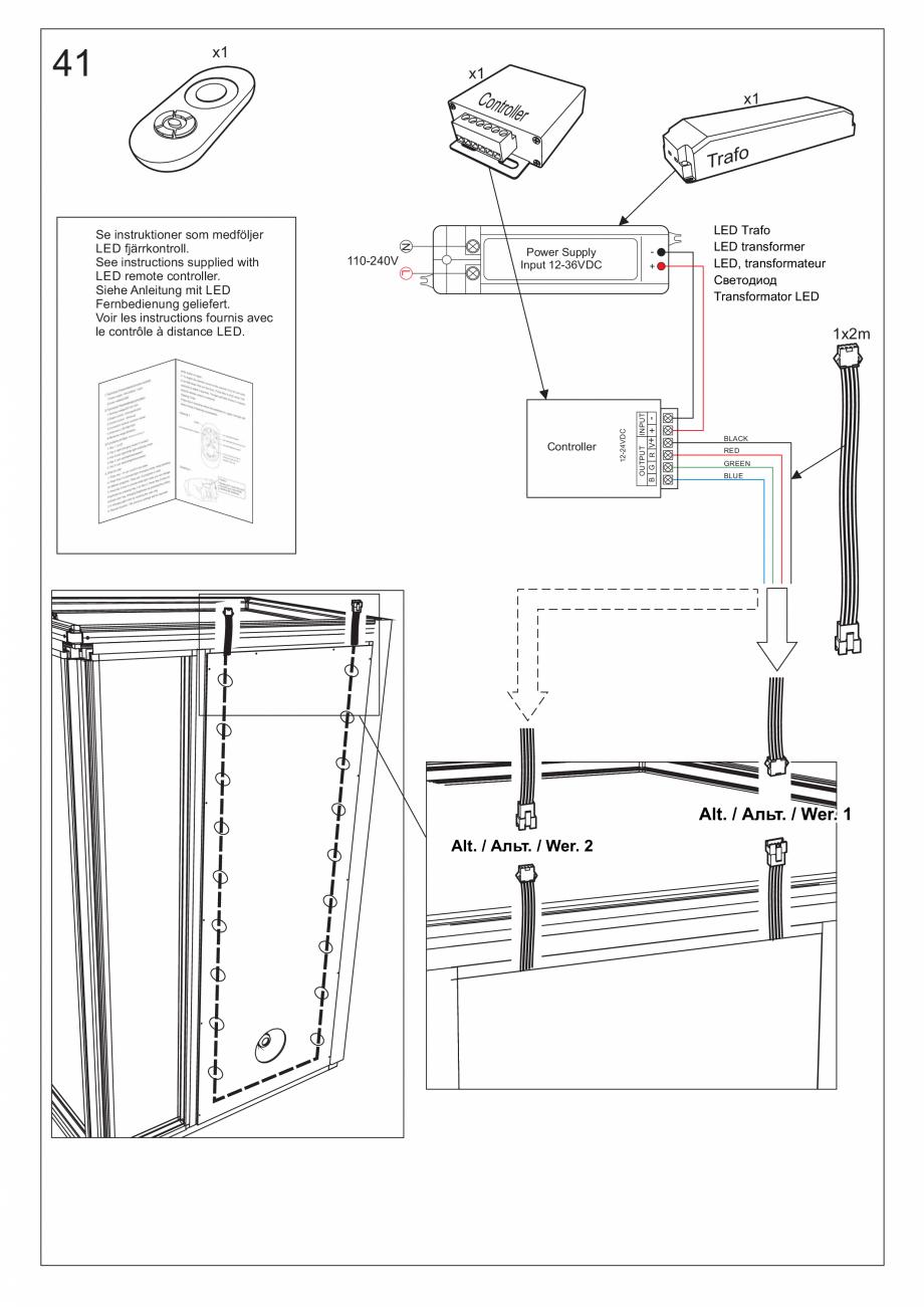 Pagina 54 - Ghidul utilizatorului pentru baia cu aburi UE Panacea Instructiuni montaj, utilizare...