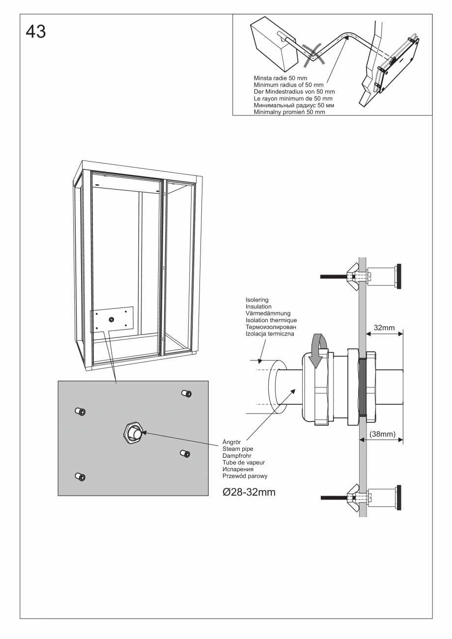 Pagina 56 - Ghidul utilizatorului pentru baia cu aburi UE Panacea Instructiuni montaj, utilizare...