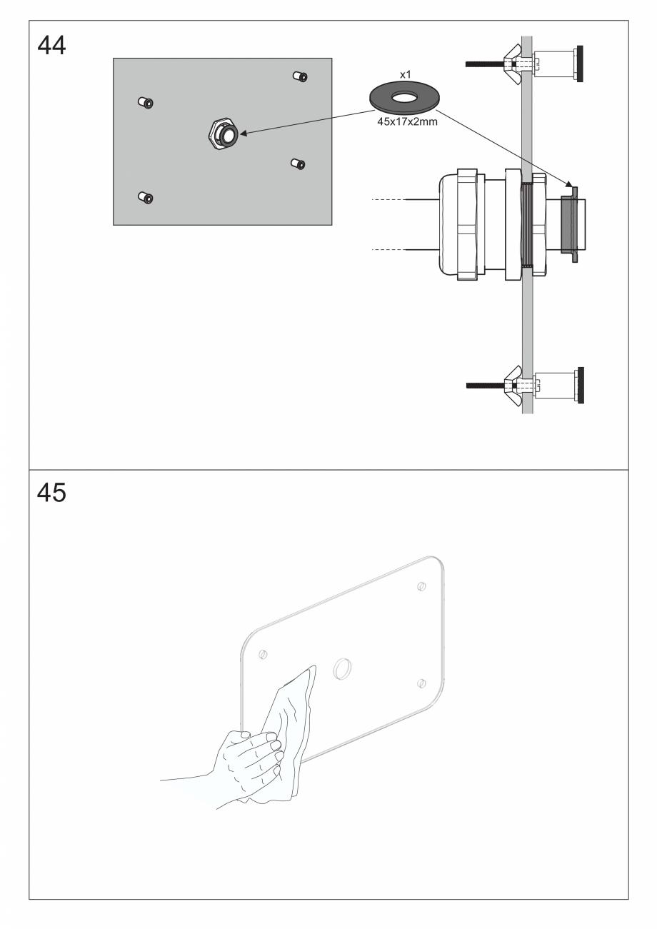 Pagina 57 - Ghidul utilizatorului pentru baia cu aburi UE Panacea Instructiuni montaj, utilizare...