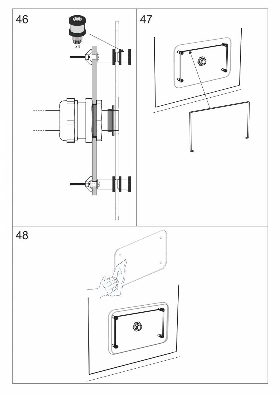 Pagina 58 - Ghidul utilizatorului pentru baia cu aburi UE Panacea Instructiuni montaj, utilizare...