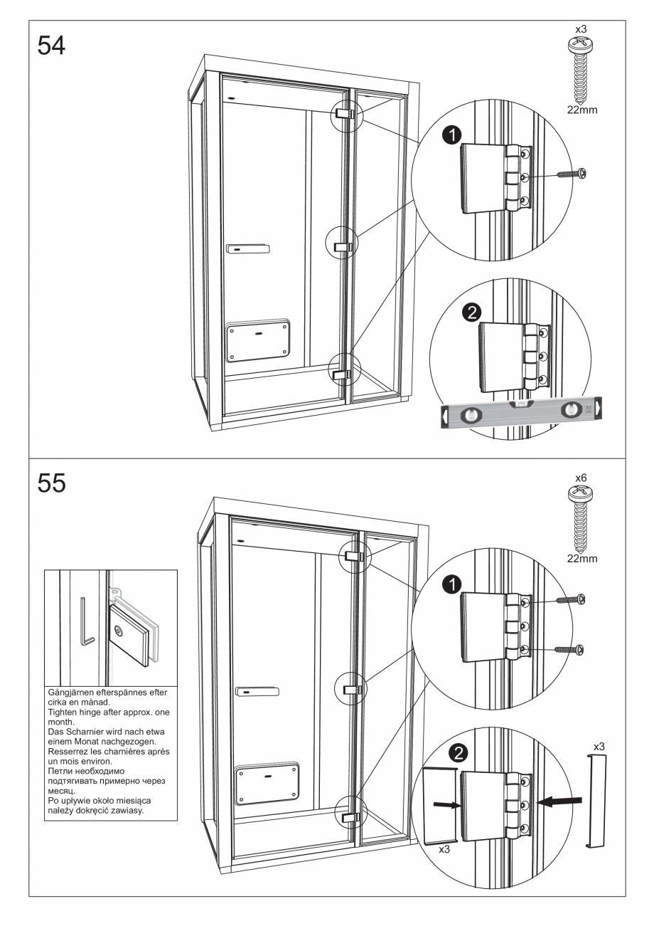 Pagina 62 - Ghidul utilizatorului pentru baia cu aburi UE Panacea Instructiuni montaj, utilizare...