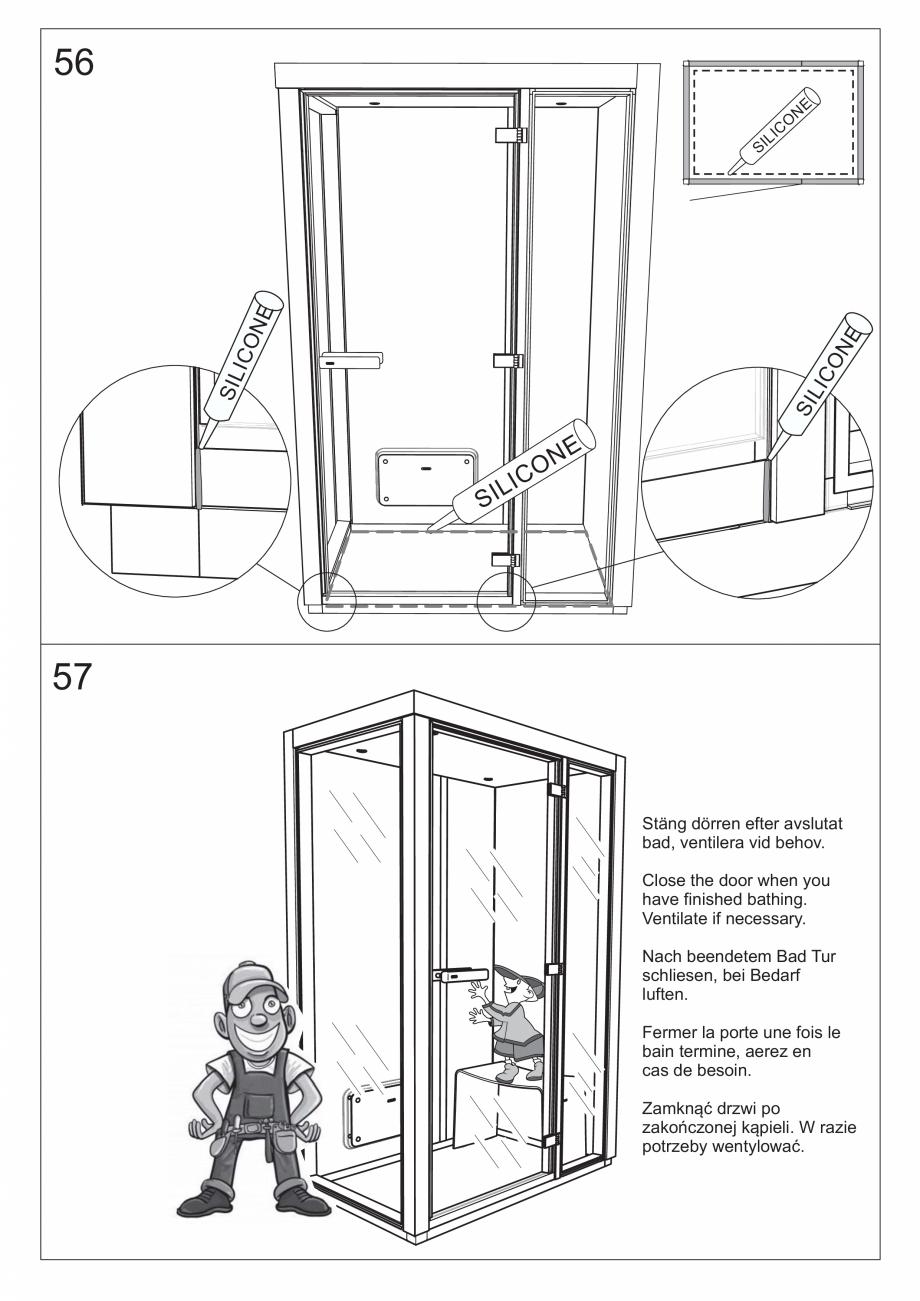 Pagina 63 - Ghidul utilizatorului pentru baia cu aburi UE Panacea Instructiuni montaj, utilizare...