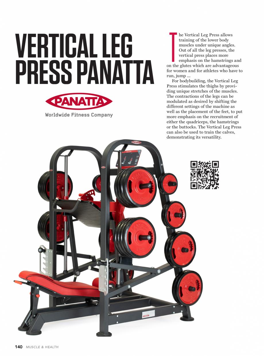 Pagina 1 - Aparat de fitness PANATTA VERTICAL LEG PRESS Fisa tehnica VERTICAL LEG T PRESS PANATTA ...