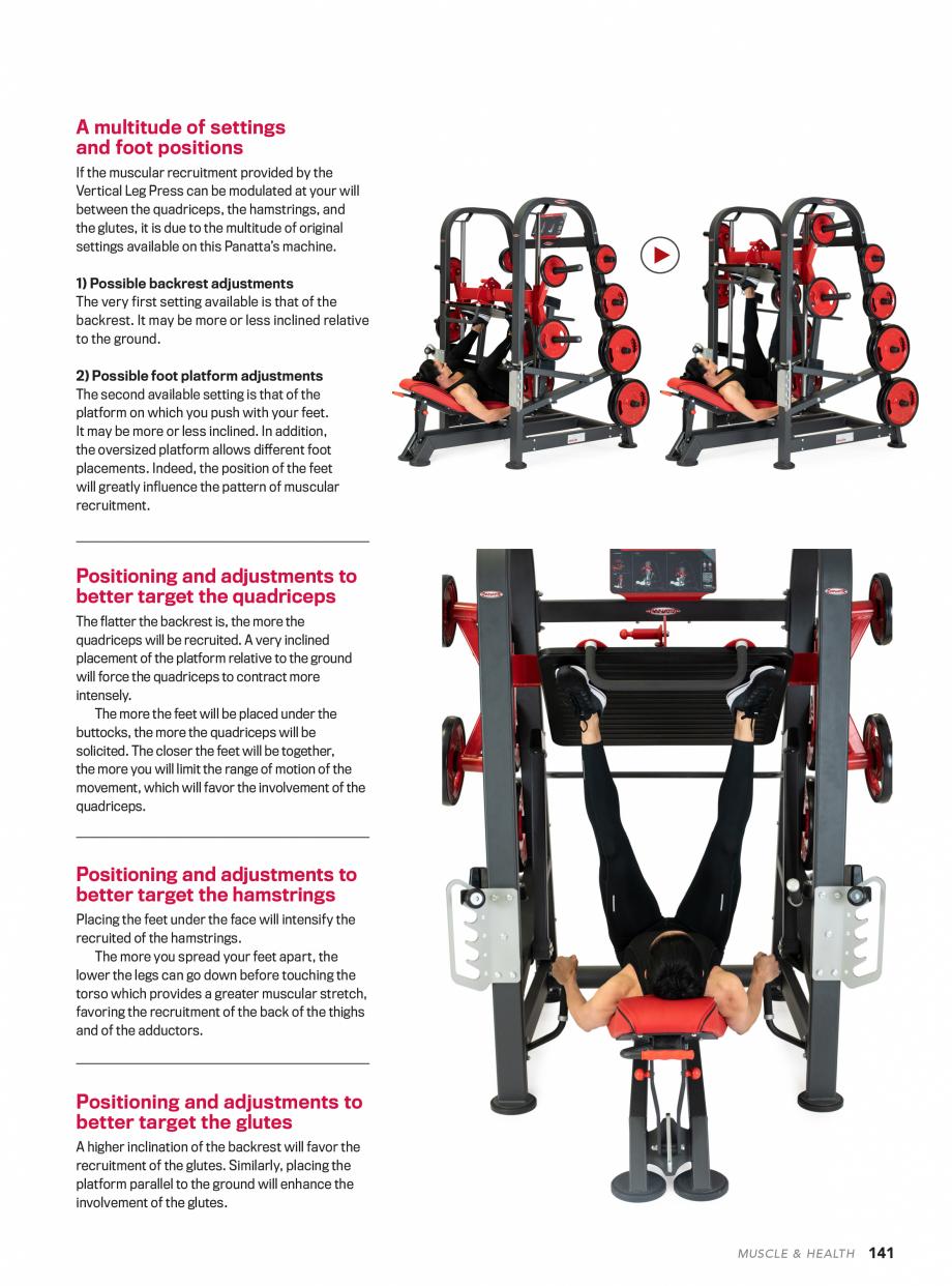 Pagina 2 - Aparat de fitness PANATTA VERTICAL LEG PRESS Fisa tehnica tings available on this...