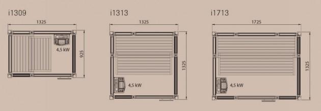 Schiță dimensiuni Sauna Impression