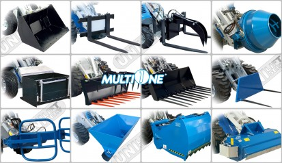 Stivuitor incarcator vehicul multifunctional / Stivuitor Incarcator Multifunctional MULTIONE Diesel 1.5t 7.3 + Cupa