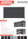 Panou gard metalic rezidential KONSPORT - PS 004