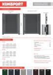 Panou pentru poarta metalica rezidentiala KONSPORT - PS 004