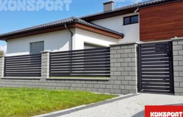 Garduri si porti rezidentiale KONSPORT va ofera doua modele de garduri rezidentiale, acestea sunt protejate eficient impotriva coroziuni avand o durata de peste 25 de ani. Disponibile in 8 culori standard.